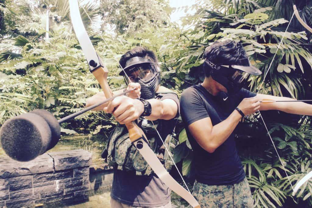 birthday party - combat archery tag