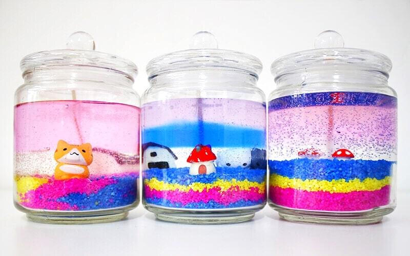 birthday gift - diy gel candle