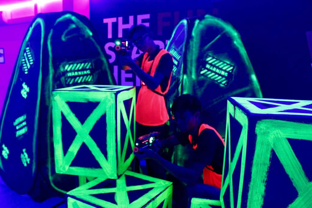 birthday party - neon laser tag