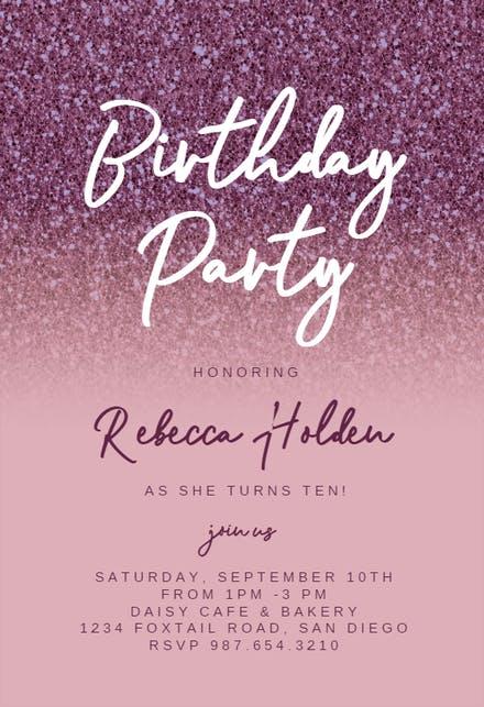 birthday party - party invitation