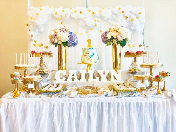kids birthday party - table setting